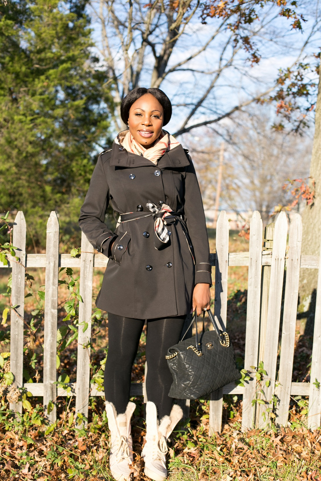 outfit of the day on a sunny fall winter day