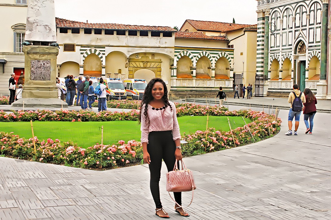 At Santa Maria Novella Church Florence Italy