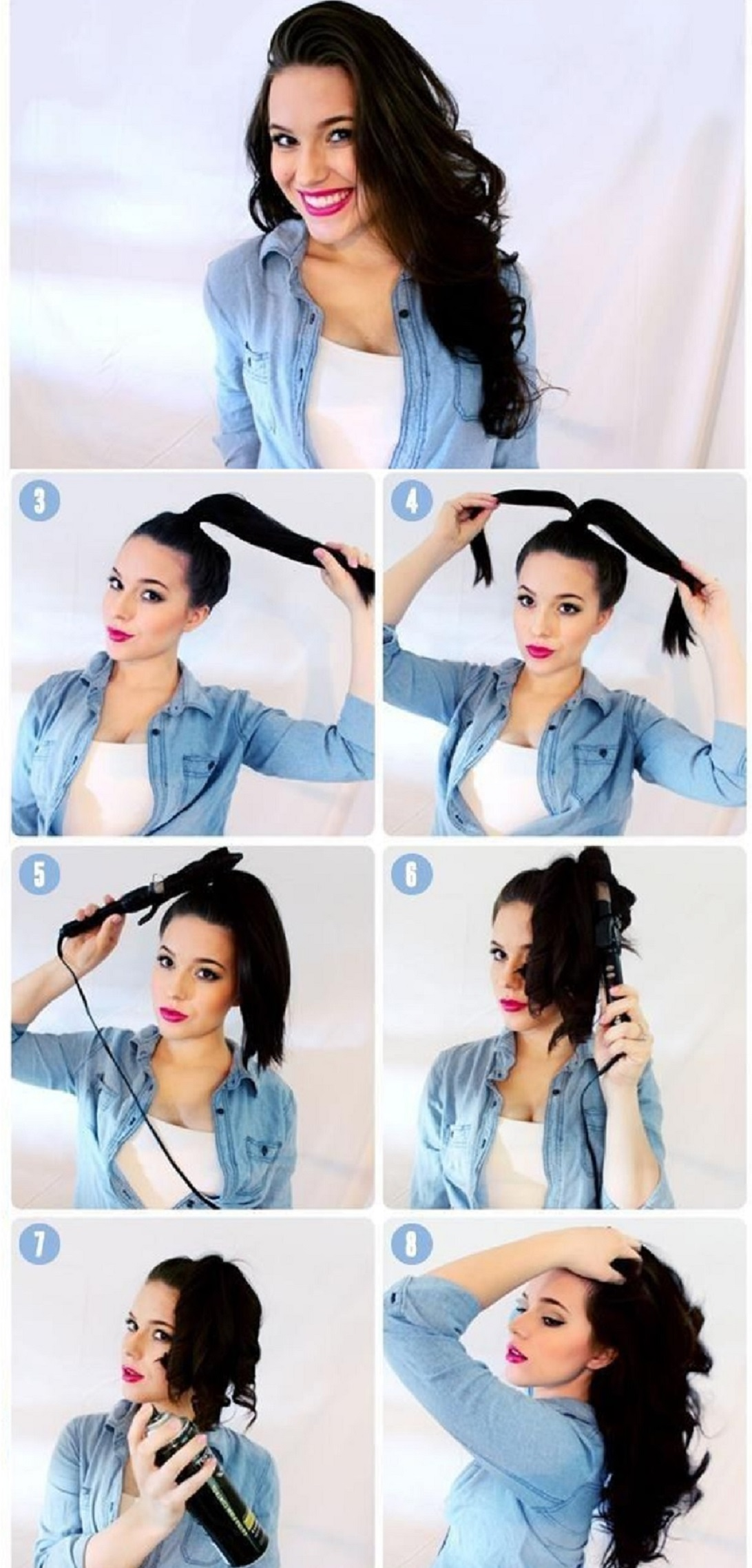 5 Minutes Curls Hairstyling Hacks