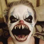 Bloody Big Mouth Clown Scary Halloween MakeUp Look