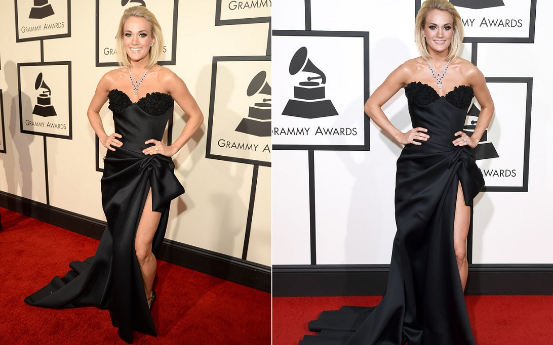 Carrie Underwood Black Gown Best Dressed Celebrities At Grammy 2016