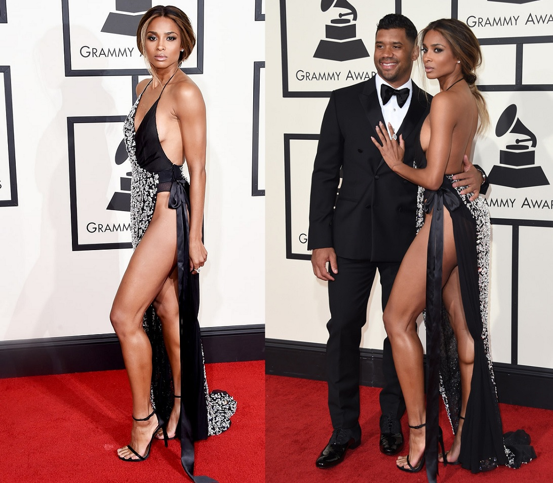 Ciara Slit Dress Best Dressed Celebrities At Grammy 2016