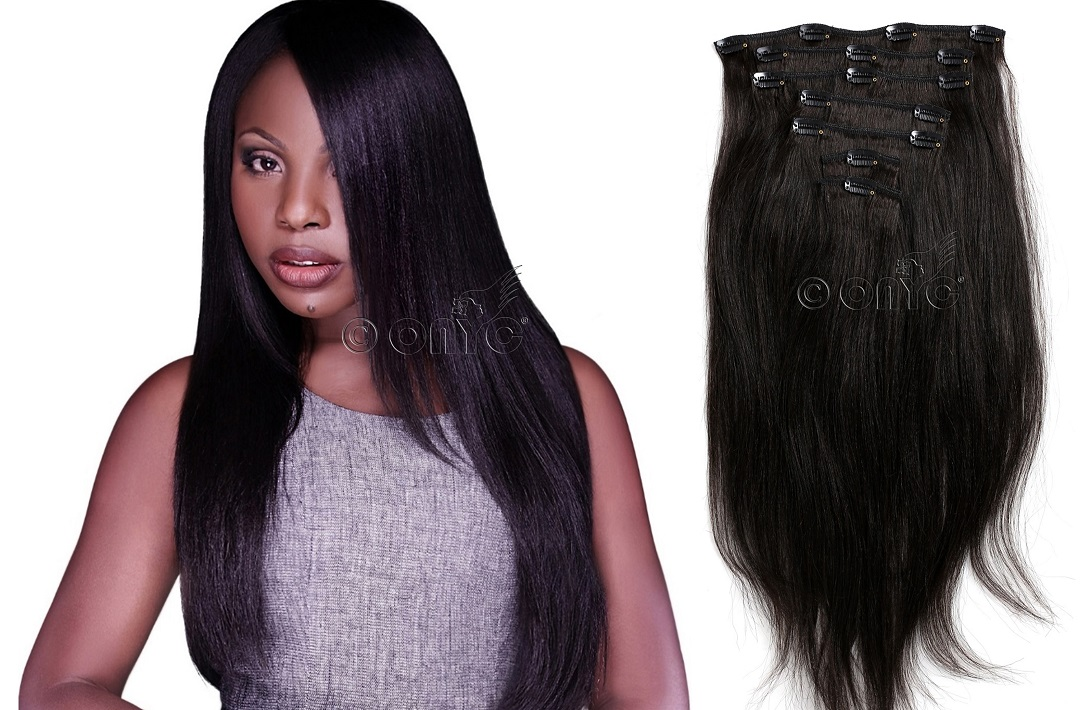 Instant longer and fuller hair with clip in extensions relaxed perm hair helps you achieve fuller hair and easily blends with african american hair texture it also comes with matching closure for a seamless pmusecretfo Choice Image