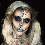 Face Stiched Halloween MakeUp Looks