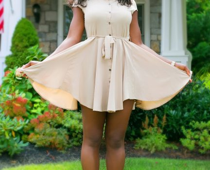 What To Wear | Flirty Burberry Short Dress