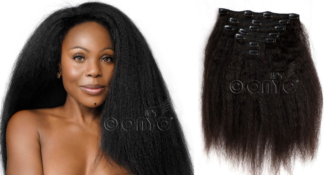Instant longer and fuller hair with clip in extensions the fro out kinky straight is perfect for women who would like more volume and movement in their hair it is also cost effective thanks to its full texture pmusecretfo Choice Image