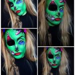 One Eyed Green Monster Scary Halloween MakeUp Look