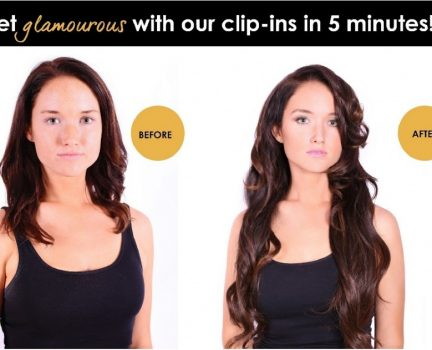 Instant Longer and Fuller Hair with Clip in Extensions
