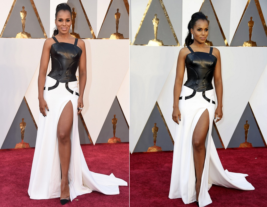 Oscars 2016 Best Dressed Kerry Washington In Black And White Dress