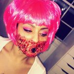 Bloody Stitched Mouth Halloween MakeUp