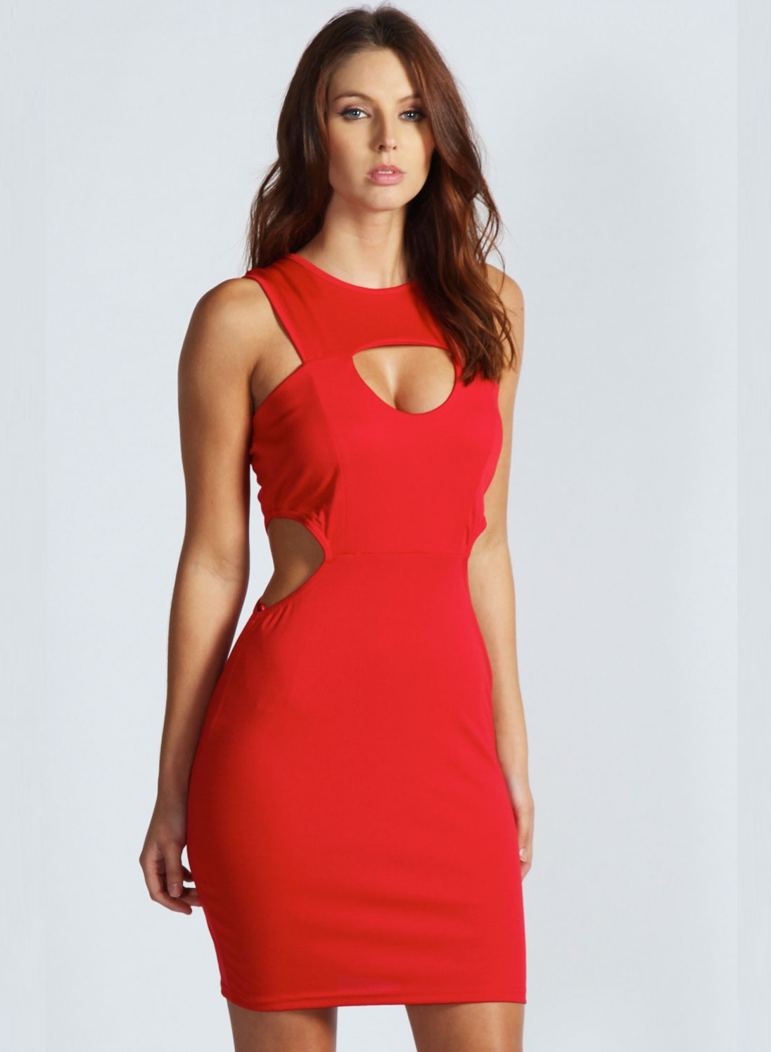 Red Cutout Dress Outfit Ideas For Valentines Day