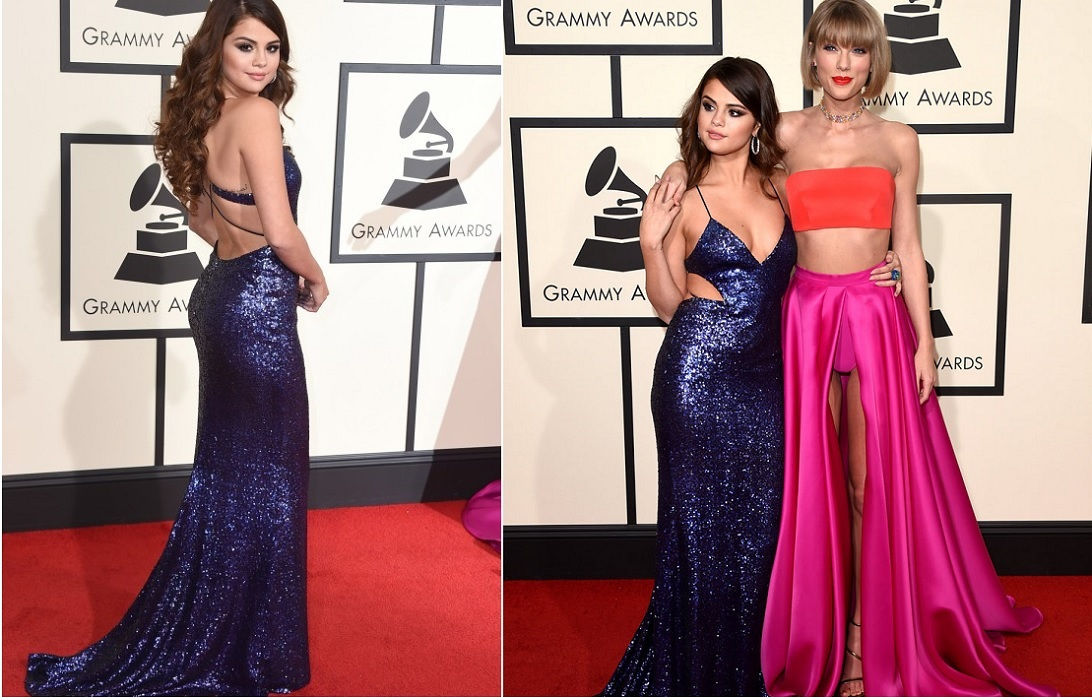 Selena Gomez Blue Gown Best Dressed Celebrities At Grammy 2016