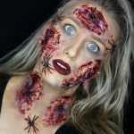 Spider Hallowen Wounded Face