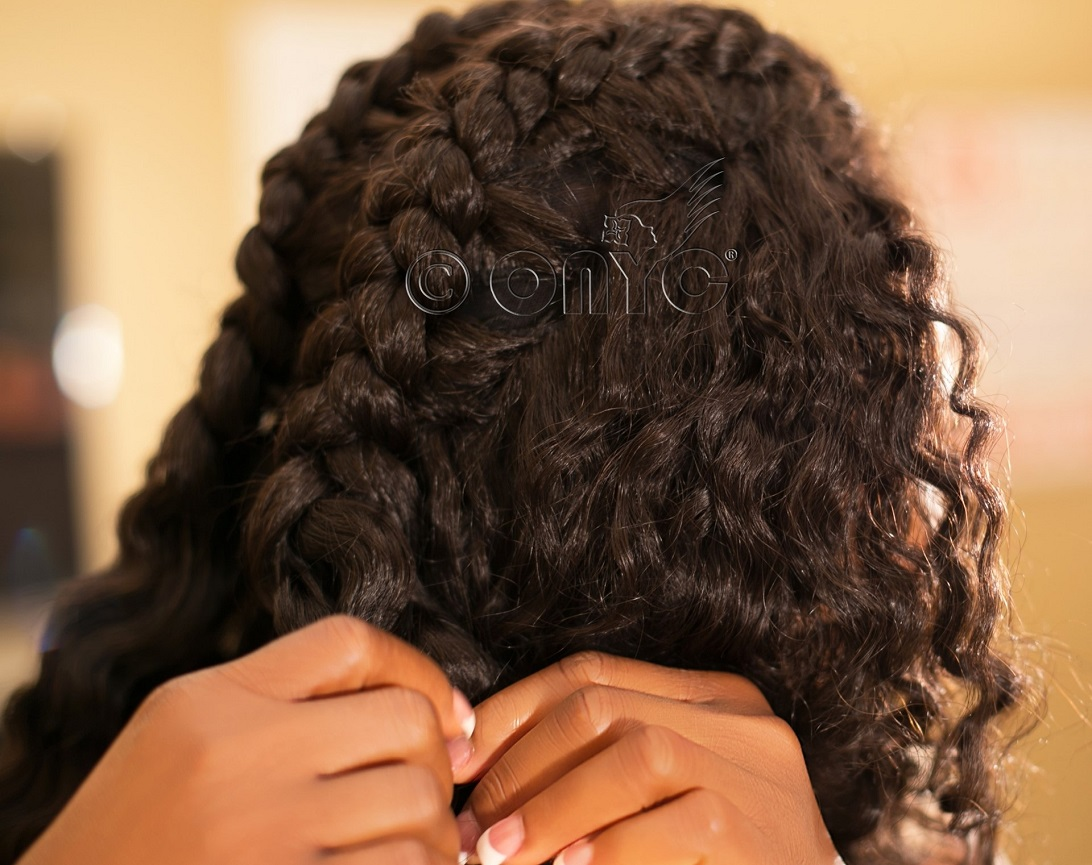 Thelma Okoro ONYC Hair CEO Taking Out Braids