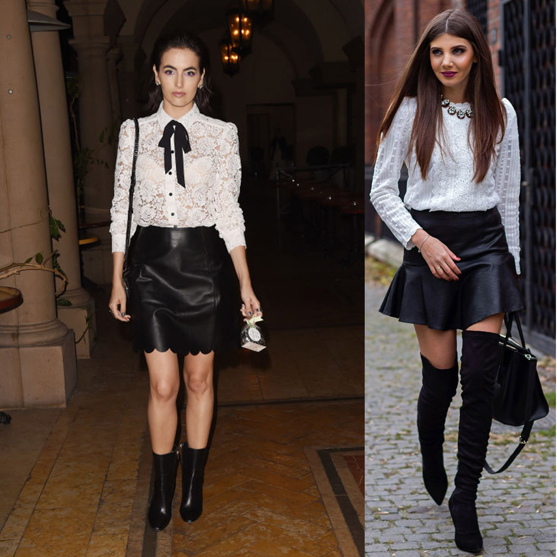 Wonderful Christmas Outfits Ideas For Parties Part - 4: Wondering What To Wear To An Office Party That Says Naughty And Nice This  Holiday? Pair A Cute White Lacey Blouse With A Black Leather Mini-skirt For  A ...