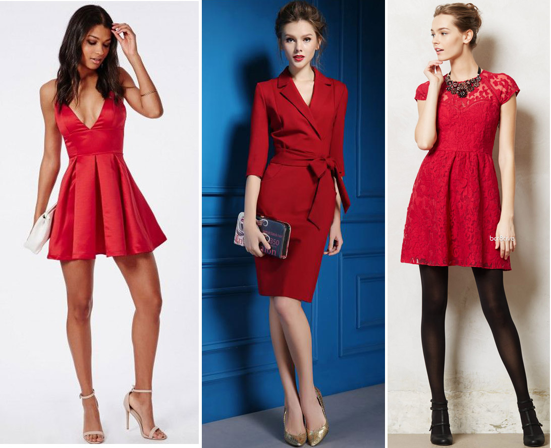 Good Christmas Outfits Ideas For Parties Part - 3: We All Know How The Color Red Symbolizes The Christmas Season. So, If You  Are Still Undecided About What To Wear To An Office Party, A Classy Red  Dress ...
