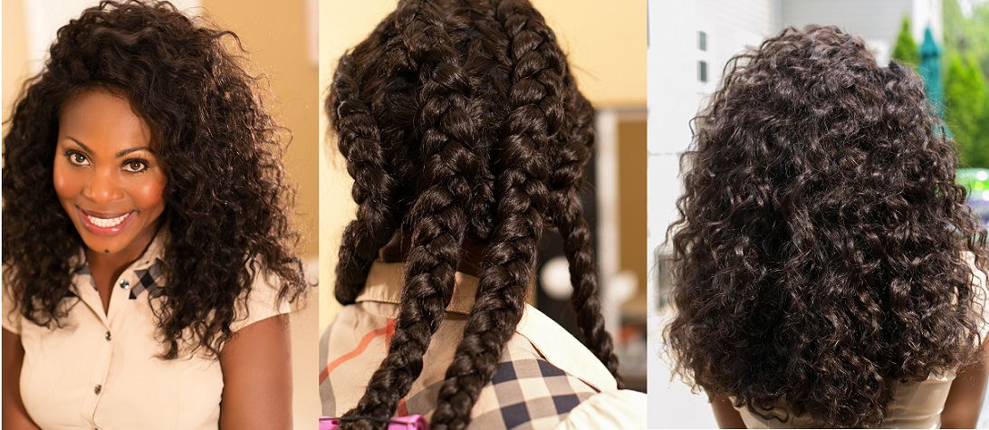 Learn how to achieve Easy Braid Out Tutorial On Natural Hair using ONYC Kinky Straight Hair