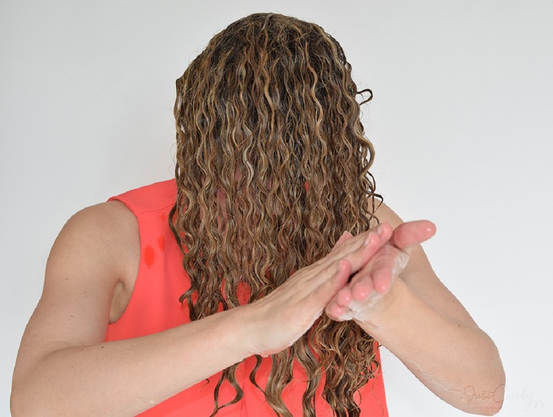 Apply Little Gel To Hold Curls Together