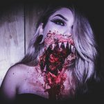 Big Bloody Mouth Halloween MakeUp Look