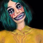 Cartoon Big Eyes Halloween Scary Halloween MakeUp Look