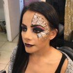 Easy Halloween MakeUp Look Spider Web Easy Halloween MakeUp