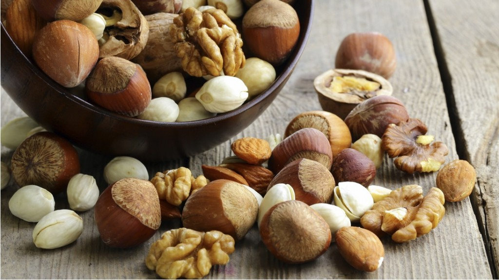 Eating Nuts - Healthy Food