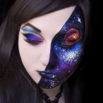 Galaxy Pretty Halloween MakeUp Look