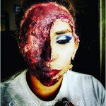 Half Faces Tear Off Creepy Halloween MakeUp Looks