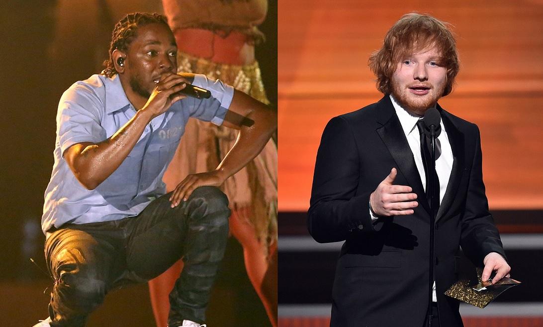 Kendrick Lamar Ed Sheeran Grammy 2016