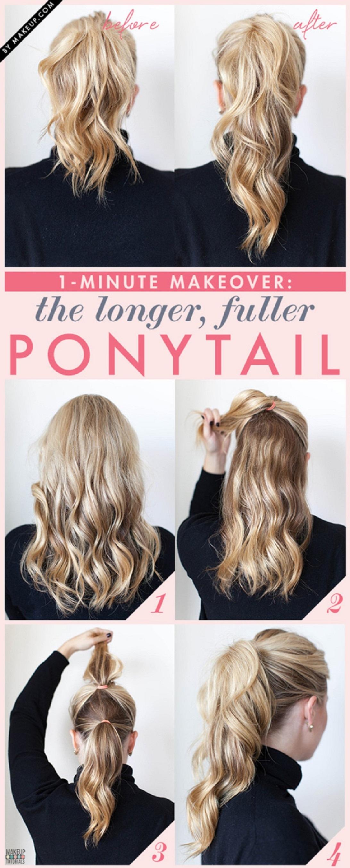 Longer Ponytail Hairstyling Hacks