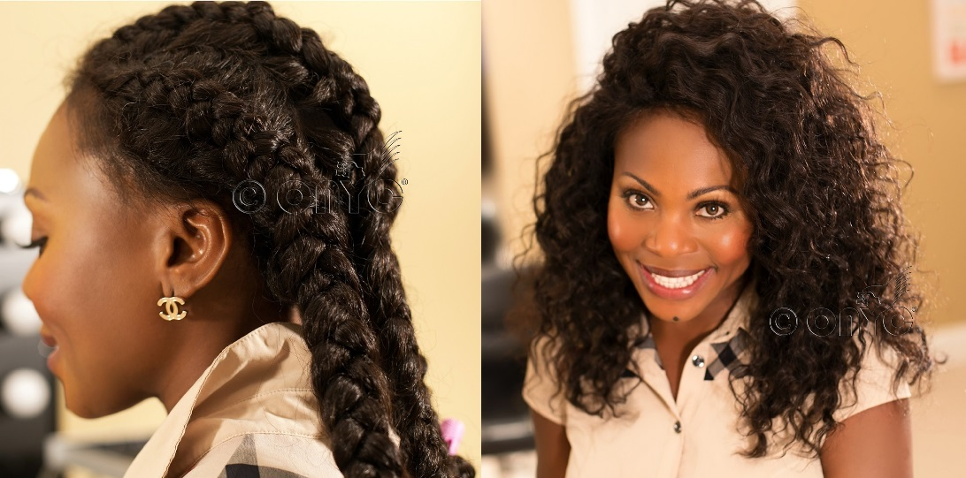 Natural Braid Out Kinky Straight Hair Onyc