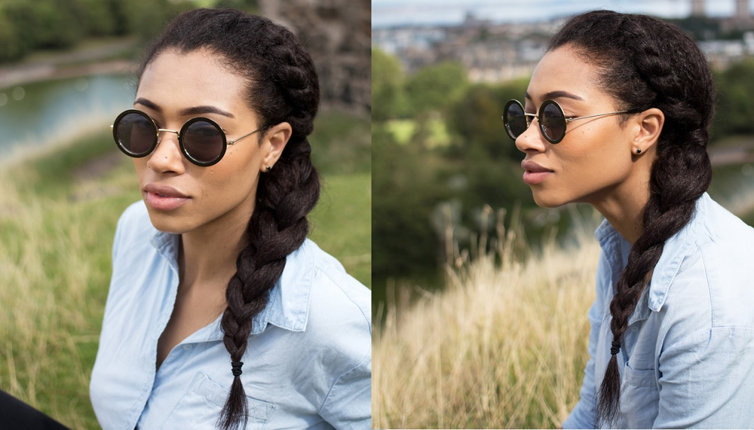 Twisted Side Braid For Natural Ethnic Hair