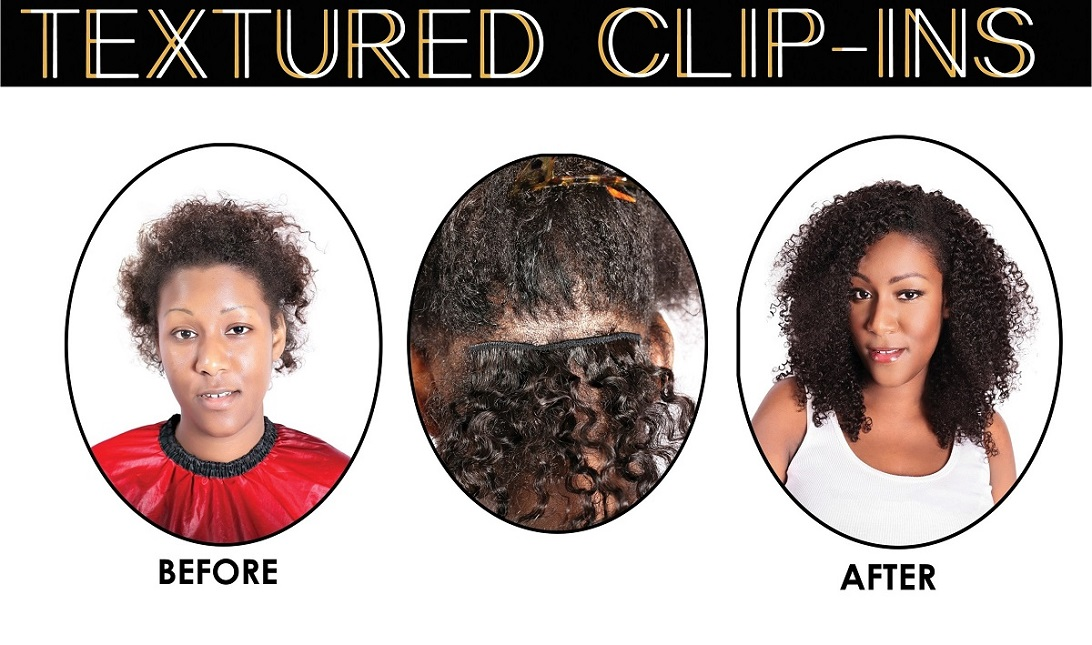 ONYC Hair Kinky Curly Textured Clipin