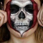 Open Skull Scary Halloween MakeUp Look