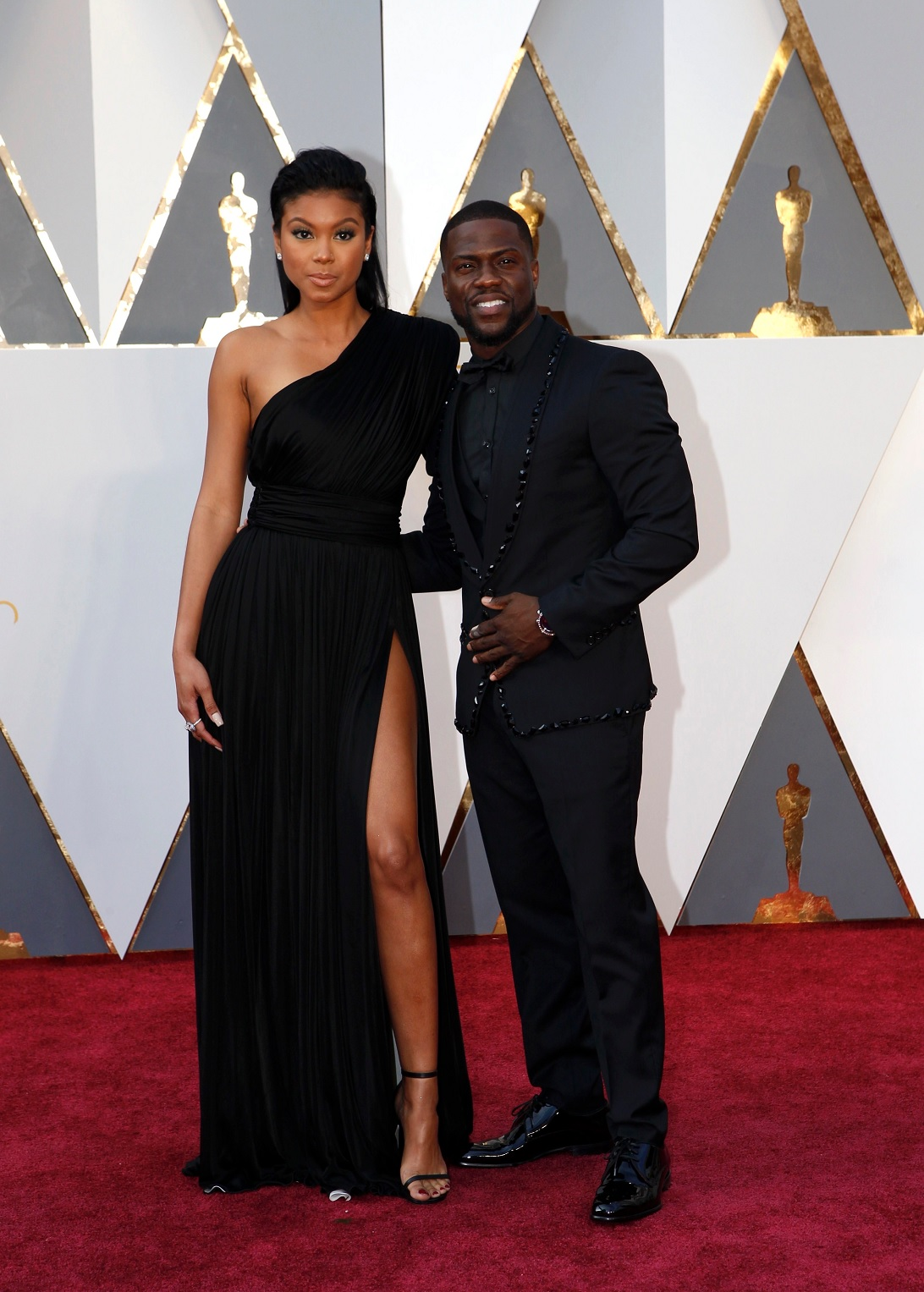 Oscars 2016 Best Dressed Eniko Parrish Black Dress