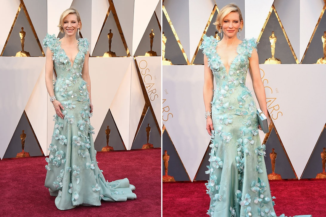 Oscars 2016 Best Dressed Kate Blanchet Blue Dress