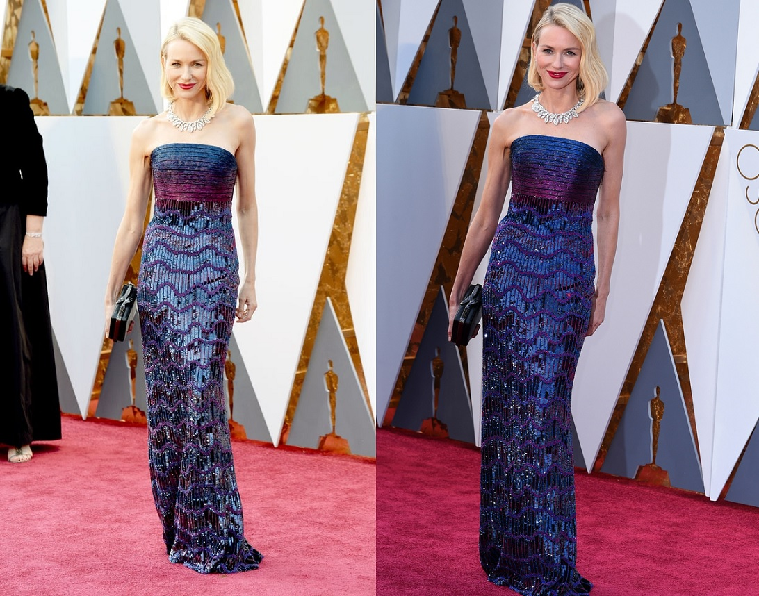Oscars 2016 Best Dressed Naomi Watts Blue Dress