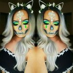 Pretty Skeleton Pretty Halloween MakeUp Look