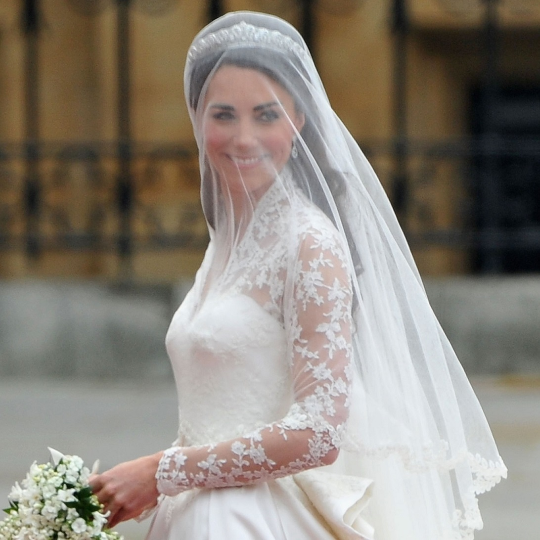 Princess Kate Wedding Hair With Veil