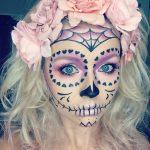 Skeletal Rose Pretty Halloween MakeUp Look