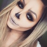Skeleton Look Easy Halloween MakeUp Look