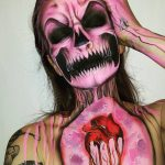 Skeleton Pink Scary Scary Halloween MakeUp Look