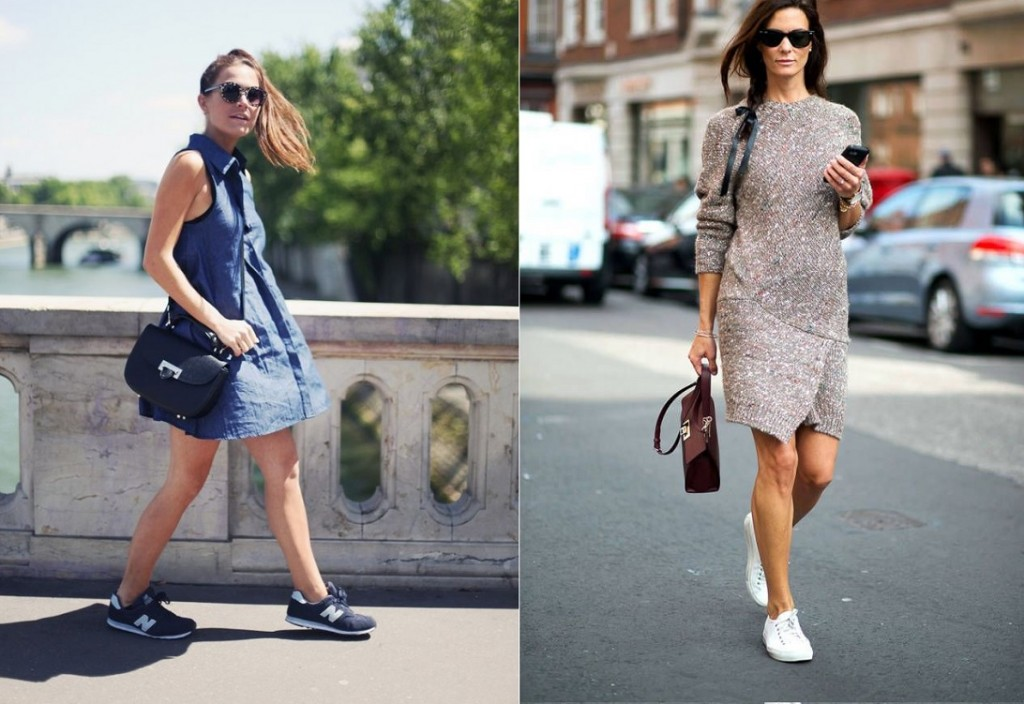 Sneakers With Dress 2016 Fashion Trend