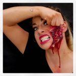 Tearing Face Off Creepy Halloween MakeUp