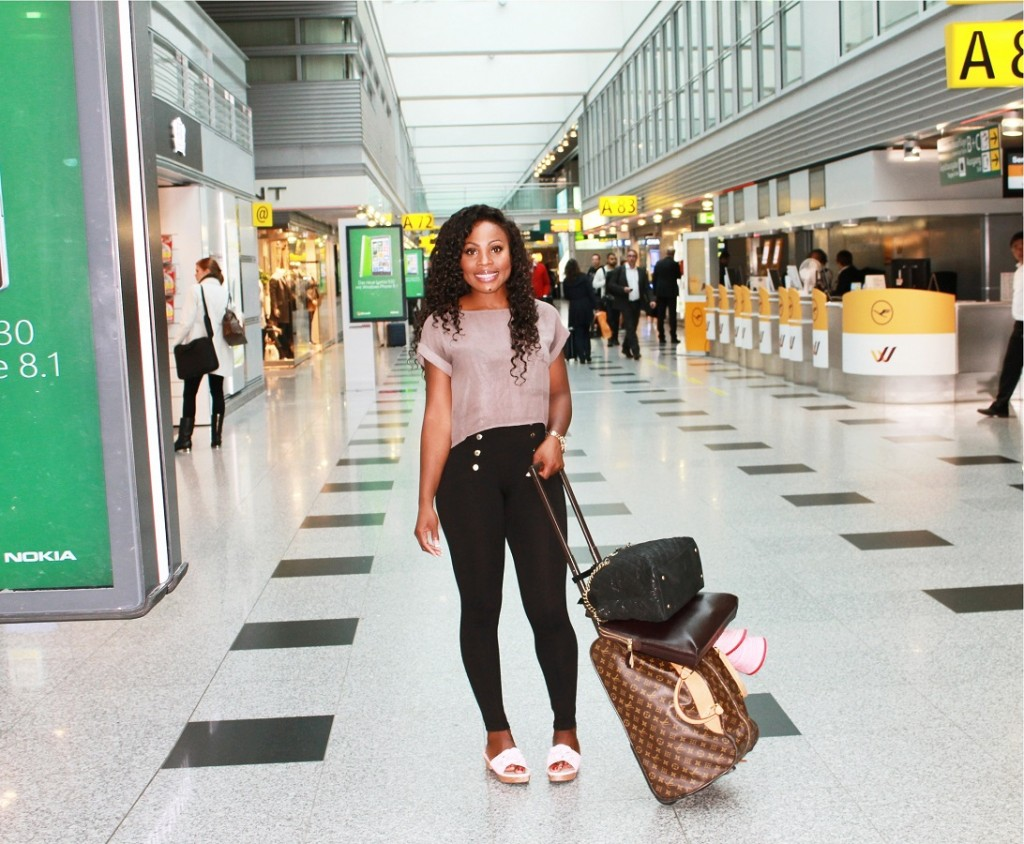Thelma Okoro At Cologne Bonn Airport Heading To Rome Italy