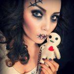 VooDoo Doll Easy Halloween MakeUp Look