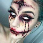 White Eyes Creepy Halloween MakeUp Looks