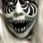 White Lady Swirling Scary Halloween MakeUp Look