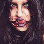Zombie Halloween MakeUp Tear Off Mouth