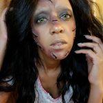 Zombie Halloween Creepy MakeUp Look